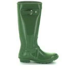 Seven7 tall green rain boots size 9